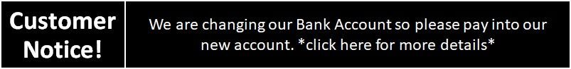 Our Registered Business Bank Account has changed