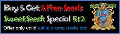 Buy 5 Get 2 Free on all Sweet Cannabis Seeds - Available while promo 7 packs last